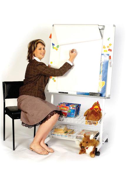 Photo of a teacher using a Big Book Literacy Unit
