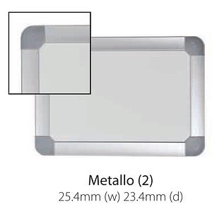 Vista Australian Made Metallo Trim Whiteboard with rounded corners.