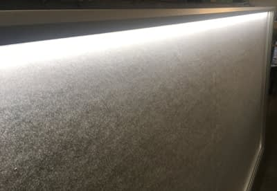 Image of LED strip in noticeboard