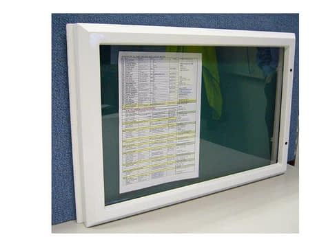 image of the Vista weather resistant showcase in a landscape installation orientation.