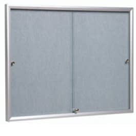 Photo of a Vista glass fronted notice board