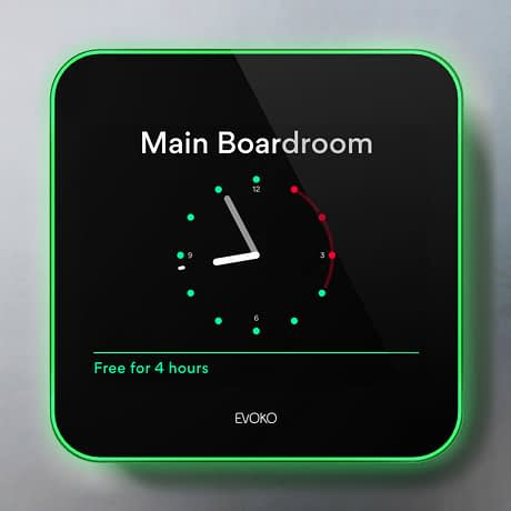The Evoko Liso room booking manager is easy to book a meeting room on