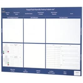 Image of a wall mounted porcelain printed white board