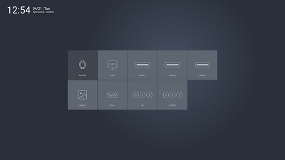 Link Media EvolutionX input selection menu