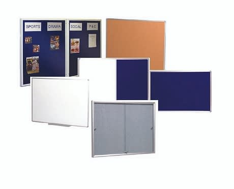 Photo of mixed Vista products whiteboards, pin boards and notice boards