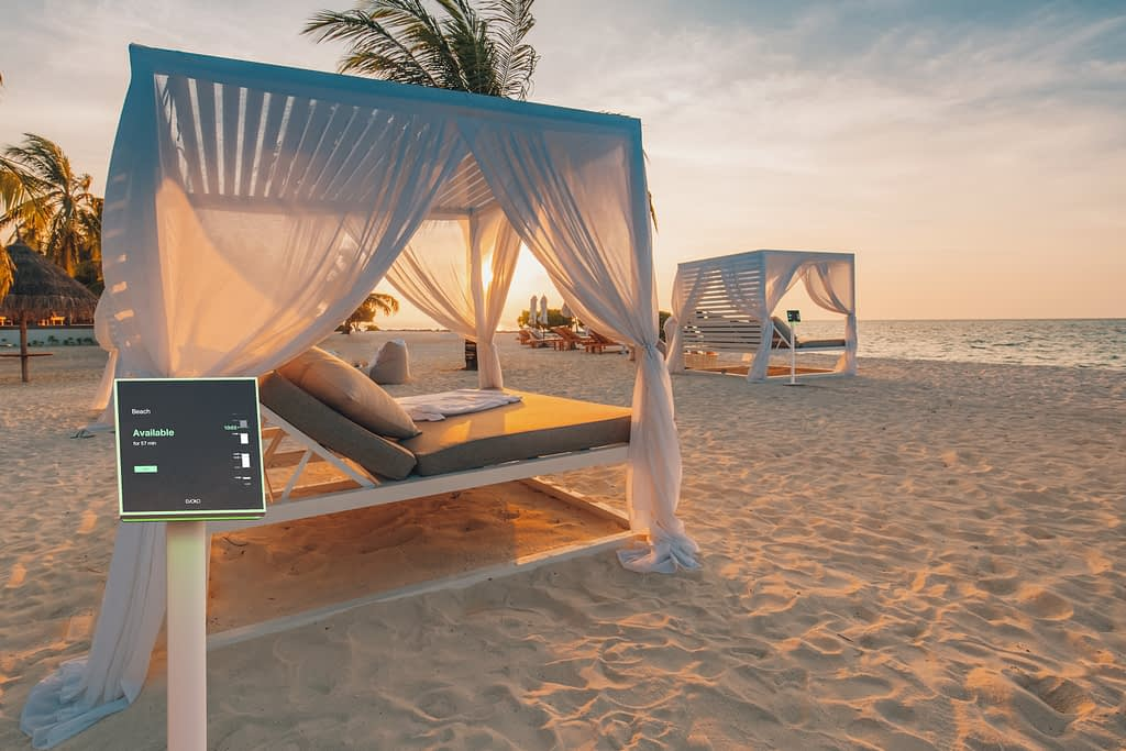 Photo of a Naso room booking manager for booking a beach chair