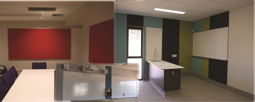 Montage photo of school installations by Vista