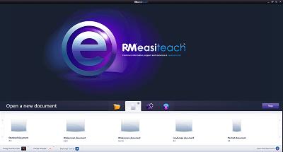 RM Easiteach New Document Screen