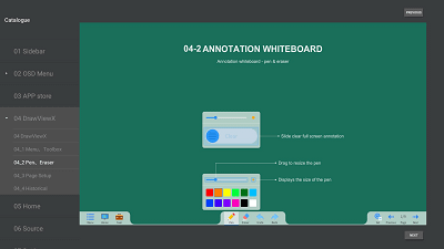 Link Media EvolutionX Annotating and whiteboard software