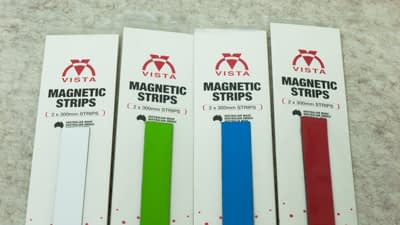 photo of Vista Magnetic Strips showing 4 colours