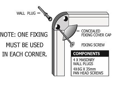 Diagram of corner cap board installation
