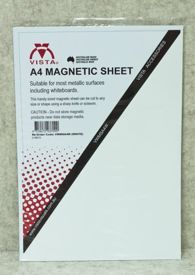 image of Vista Magnetic Sheet A4 White in packaging