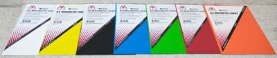 Image of Vista Magnetic Sheets A4 showing all 7 colours
