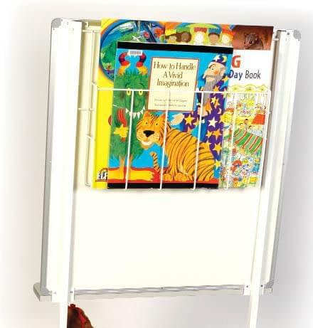 Photo of the storage basket on the back of the Big Book Literacy Unit