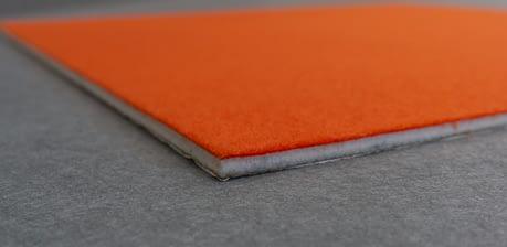 Photo of edge profile of Vista DIY pinboard tile