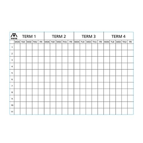 picture of a Vista 4 term planner type 1