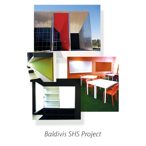Montage of images for boards manufactured for Baldivis Senior High School